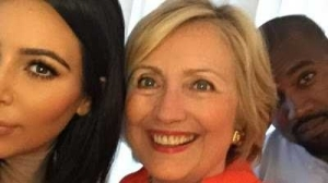 Hilary Clinton praises Kanye West after Kim Kardashian robbery